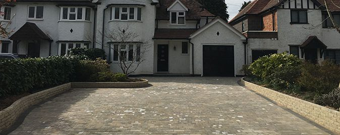 New Tumbled Paving Driveway in Knowle